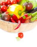 Verduras en el fondo blanco Fotografía de archivo libre de regalías