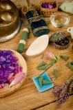 Todavía de los cosméticos vida natural Fotografía de archivo libre de regalías