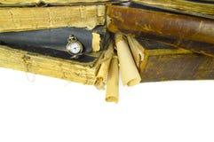 Todavía de los libros vida antigua aislada Imágenes de archivo libres de regalías