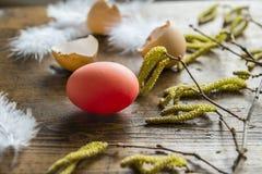Todavía de Pascua vida con el huevo rojo Imágenes de archivo libres de regalías