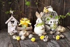 Todavía de Pascua vida con las decoraciones del día de fiesta Fotografía de archivo libre de regalías