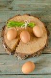 Todavía de Pascua vida con los huevos en árbol cortado Imágenes de archivo libres de regalías