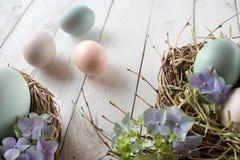 Todavía de Pascua vida en estilo del vintage Fotografía de archivo libre de regalías