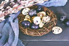 Todavía de Pascua vida Huevos de Pascua Foto de archivo libre de regalías