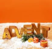 Todavía del advenimiento fondo anaranjado colorido de la vida Imágenes de archivo libres de regalías