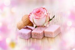 Todavía del balneario vida con el jabón aromático Imagen de archivo