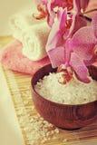 Todavía del balneario vida con la orquídea Fotos de archivo libres de regalías