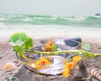 Todavía del balneario vida en la playa Fotografía de archivo