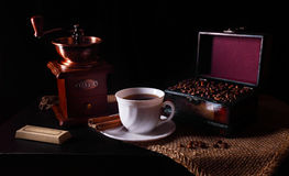 Todavía del café vida Foto de archivo libre de regalías
