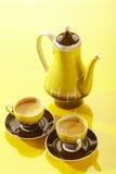 Todavía del café vida amarilla Foto de archivo libre de regalías