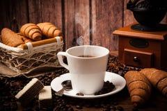 Todavía del café vida con la taza de café Imágenes de archivo libres de regalías