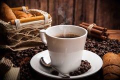 Todavía del café vida con la taza de café Fotos de archivo