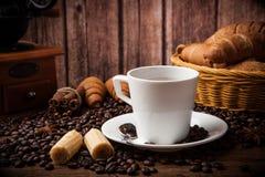 Todavía del café vida con la taza de café Fotografía de archivo