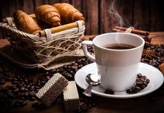 Todavía del café vida con la taza de café Fotografía de archivo libre de regalías
