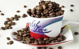 Todavía del café vida en un fondo blanco Imagen de archivo