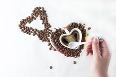 Todavía del café vida en un fondo blanco Fotografía de archivo