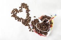 Todavía del café vida en un fondo blanco Foto de archivo