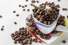 Todavía del café vida en un fondo blanco Imagenes de archivo