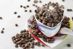 Todavía del café vida en un fondo blanco Fotos de archivo