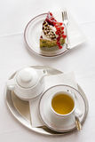 Todavía del desayuno vida con la torta Fotografía de archivo