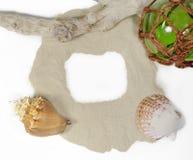 Todavía del mar vida con la arena y la copia Fotos de archivo libres de regalías