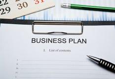 Todavía del negocio vida con el plan empresarial Fotos de archivo libres de regalías