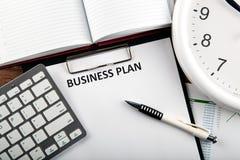 Todavía del negocio vida con el plan empresarial Imagen de archivo