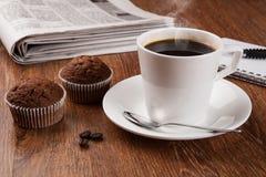 Todavía del negocio vida con la taza de café sólo Fotografía de archivo