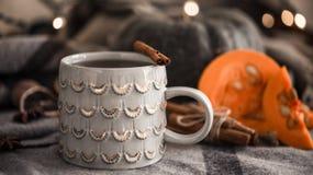 Todavía del otoño vida con la taza de té Fotografía de archivo