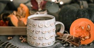 Todavía del otoño vida con la taza de té Imagen de archivo