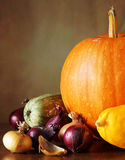 Todavía del otoño vida con las diversas verduras frescas Fotografía de archivo