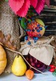 Todavía del otoño vida con las frutas y verduras Imagen de archivo