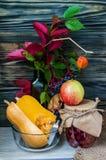 Todavía del otoño vida con las frutas y verduras Fotografía de archivo libre de regalías