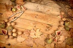 Todavía del otoño vida con los higos frescos Fotografía de archivo libre de regalías