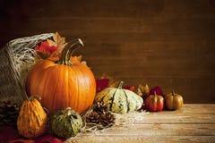 Todavía del otoño vida rústica con el espacio de la copia Fotos de archivo libres de regalías