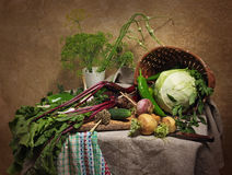 Todavía del país vida con las verduras Fotos de archivo