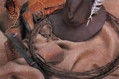 Todavía del vaquero decoración de la vida Foto de archivo