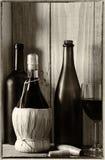 Todavía del vino vida con la luz de la ventana Fotografía de archivo