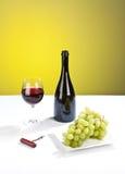 Todavía del vino vida de lujo Foto de archivo