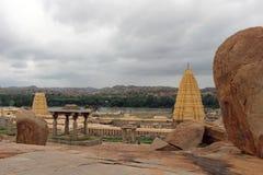 Todavía el templo prominente de Virupaksha funcionando de Hampi fotos de archivo libres de regalías