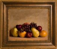 Todavía enmarcado arreglo de la fruta de la vida imágenes de archivo libres de regalías