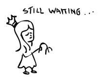 Todavía esperando ilustración del vector