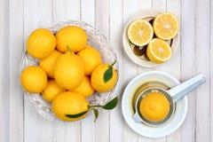 Todavía exprimir vida de los limones Fotos de archivo