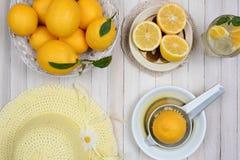 Todavía fabricación de vida de la limonada Fotografía de archivo