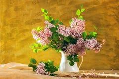 Todavía floración de las flores de las lilas del ramo de la vida Imágenes de archivo libres de regalías