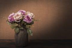 Todavía fotografía de la pintura de la vida con las rosas Imagen de archivo