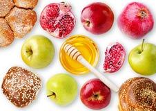 Todavía jalá, manzanas, granada y BO de la opinión de la vida desde arriba - Imagenes de archivo