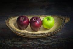 Todavía manzanas de la vida Fotografía de archivo