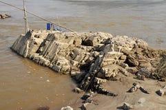 Todavía naturaleza de piedra del río de la roca Imagen de archivo libre de regalías