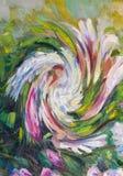 Todavía pintura de textura de la pintura al óleo de la vida, arte color de rosa del impresionismo Fotografía de archivo